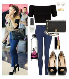 """""""ArianaGrande Love Her Style Sooo Much"""" by unicornsparklespower ❤ liked on Polyvore featuring beauty, Miss Selfridge, Topshop, Giuseppe Zanotti, OPI, Reeds Jewelers, Jennifer Zeuner and Chanel"""