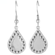 @Overstock - Stainless Steel Bohemian Stamped Teardrop Earrings - Add a touch of bohemian flair to any ensemble with these stainless steel dangling teardrop earrings. Featuring a stamped dot border, hook backing and a high polish finish, these earrings provide the perfect accesory for business or leisure.  http://www.overstock.com/Jewelry-Watches/Stainless-Steel-Bohemian-Stamped-Teardrop-Earrings/9252291/product.html?CID=214117 $10.19