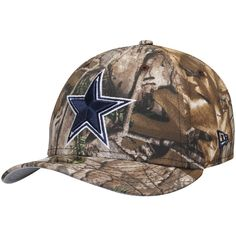 Men s Dallas Cowboys New Era Realtree Camo Star Logo Low Profile 59FIFTY Fitted  Hat 70f03a435ac7