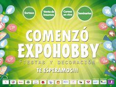 """YA COMENZÓ EXPOHOBBY """"Fiestas y Decoración""""!!!! Vení te estamos esperando!!! #Expohobby #Fiestas #Decoración #Veni #EncontraLoQueBuscas #Buses #Talleres #VentaDeInsumos #MesasExpositoras #LosMejoresProfesionales #LasMejoresMarcas #Ambientaciones #Shows #CabinaSelfie #Sorteos #GrandesPremios #YaLlega #Hoy #TengoGanasDe #IrAExpohobby"""