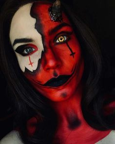 To get you ready for Halloween we have found 23 amazing devil makeup ideas. You will find frightening makeup, pretty devil makeup looks and Devil Makeup Halloween, Halloween Makeup Looks, Creepy Halloween, Halloween 2019, Halloween Ideas, Halloween Trophies, Halloween Party, Halloween Decorations, Halloween Costumes