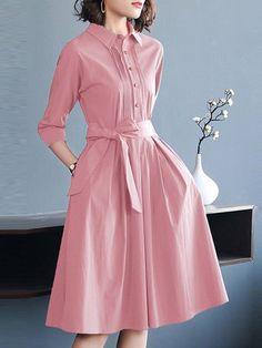 midi-dresses - Shop Affordable Designer midi-dresses for Women online Stylish Dresses For Girls, Elegant Dresses For Women, Casual Summer Dresses, Modest Dresses, Midi Dresses, Midi Dress Work, Long Sleeve Midi Dress, Frock Fashion, Fashion Dresses