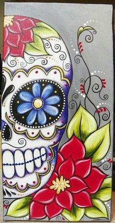 #sugarskull #mexican #zentangles #colourful #flower