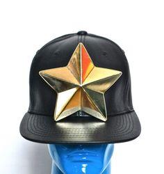 MEMBERS16 DYI MUGLER 3D Star GOLD Black Baseball Cap Acrylic PVC Patricia Field #MEmbers16 #BaseballCap