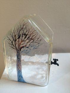 Glass house with a tap by Kayo Yokoyama