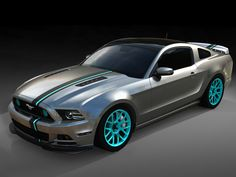 'High Gear' Wins Concept for SEMA Mustang Powered by Women Project. Cool colors and racing stripe.