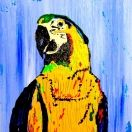 #400 Bird Thing, Acrylic on Wood, 8x10