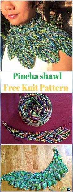 Knit Pincha shawl Free Pattern - Knit Scarf & Wrap Shawl Patterns