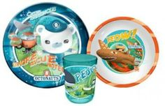 Octonauts Tumbler, Bowl, Plate 3 Piece Dinner-Set by .. $20.60. 100% Official Licensed Product. Product Contains ;  1 X Tumbler  1 X Bowl  1 X Plate