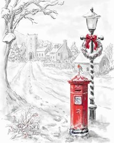 Our key principles are Fairness, Ability, Creativity, Trust and that's a F. Christmas Scenes, Noel Christmas, Country Christmas, Winter Christmas, Christmas Crafts, Christmas Decorations, Illustration Noel, Christmas Illustration, Illustrations