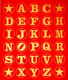 """Alphabet Wall Red/Gold"", 2011"