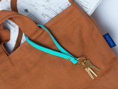 mint loop keychain and nutmeg duck bag   #baggu