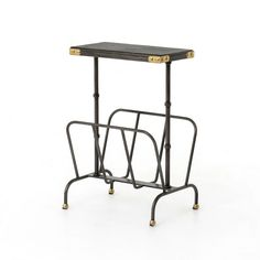 Irondale Bosco Magazine Rack-Ebony/Waxed Black CIRD-P1 by Four Hands - Four Hands Irondale Bosco Magazine Rack-Ebony/Waxed Black CIRD-P1Balancing Dramatic Scale With Flea Marketing-Find Design, The Irondale Collection Offers Comfortable Seating In Fresh Lines, Lush Velvets, And Buttery Top Grain Leather. Cast Iron Beds Are Accented With Linen Panels And A Vintage Patina Finish. Storage Solutions Embellished With Iron And Brass Details Resemble Libraries Of The 1940'S, Provide Smart And…