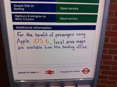 If you've upgraded to iOS you're probably—quite literally—lost. But the staff at Hackney Wick underground station in London have found a solution: iOS 6 users might be best off reverting to a good ol' fashioned paper map. Ios, Blogger Templates, Handy Shop, Mayor Of London, East London, Apple Maps, Area Map, British Humor, British People