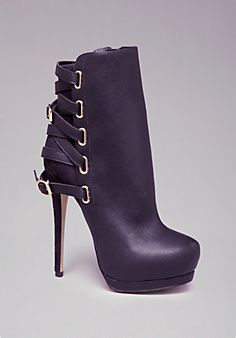 Bebe Edyta Back Strap Booties... These are blazing and sold out :(