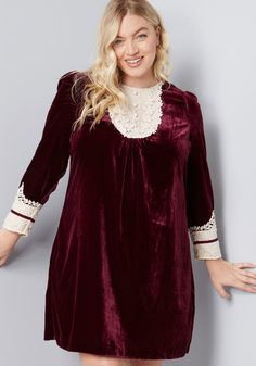 c88119712886c ModCloth x Anna Sui Charisma Calls Velvet Dress | ModCloth Cocktail Dresses  With Sleeves, Plus