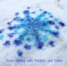 Such a simple snow painting idea for kids - all you need is markers and water! Fun things to do in the snow for preschoolers for sure!