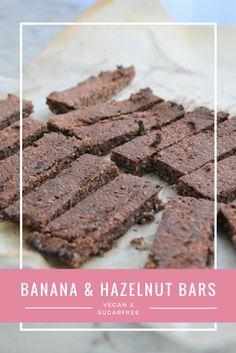 vegan sugar-free BANANA & HAZELNUT BARS <3