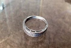 Her wedding band with lyrics from our 'first dance song' engraved inside. Wedding Bands, Our Wedding, Wedding Band Engraving, First Dance Songs, First Love, Silver Rings, Bling, Engagement Rings, Bracelets