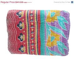 Hey, I found this really awesome Etsy listing at https://www.etsy.com/listing/200786475/vintage-throw-kantha-quilt-n-ethnic