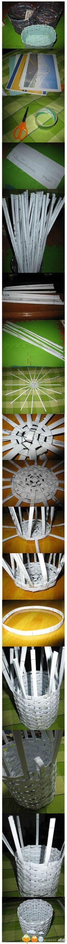 diy basket made of paper