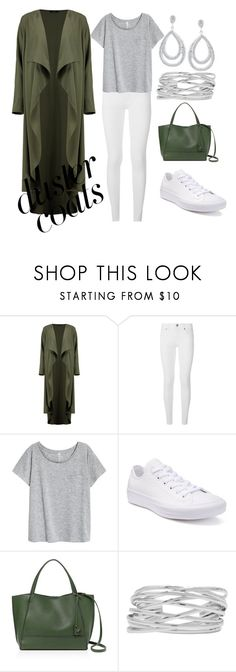"""""""duster coat"""" by cecilvenekamp ❤ liked on Polyvore featuring Boohoo, Burberry, Converse, Botkier and M&Co"""