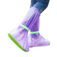 Pvcポータブルレインブーツ透明防水靴カバー屋外旅行卸売バルクロットアクセサリー用品ギア製品