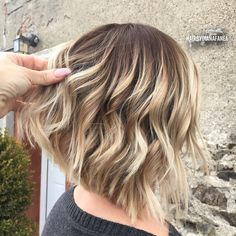 Long bob Bob cut Aline Haircut Balayage Blonde