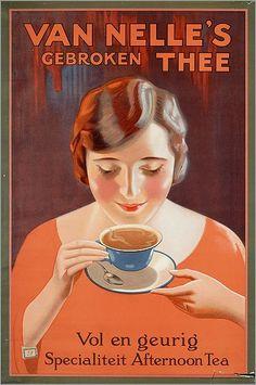 Té roto Van Nelle's (cartel vintage)