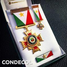 Medalla de la Alcaldía de Páramo. Departamento de Santander. Colombia.