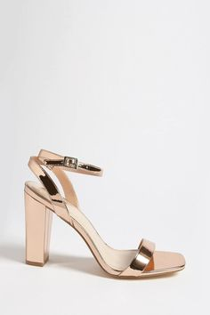 4b4a30b02b5 Forever 21 Metallic Open-Toe Heels Forever 21 Shoes