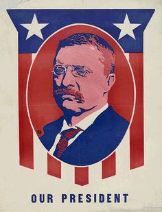 Undated poster of President Teddy Roosevelt from the Library of Congress American Presidents, American History, Canvas Art, Canvas Prints, Art Prints, Theodore Roosevelt, Edith Roosevelt, Roosevelt Family, Campaign Posters
