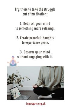 Rather than trying to stop your thoughts or empty your mind, try something else: Mind Gym, Personal Development, Empty, Meditation, Muscle, Relax, Mindfulness, Positivity, Peace