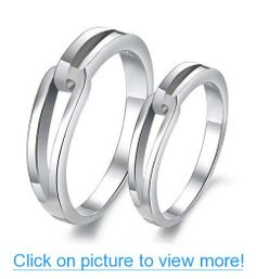 His & Hers Matching Set Platinum Plated Couple Ring Wedding Band Set Simple Korean Style (Available Sizes to 10 (Hers, Platinum Wedding Rings, Silver Wedding Bands, Wedding Band Sets, Platinum Ring, Wedding Rings For Women, Rings For Men, Trendy Wedding, Gold Wedding, Wedding Jewelry