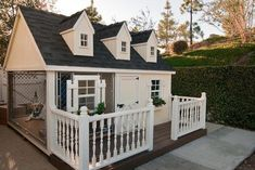 This is a dog house!!!! I love this idea. It's way too cute!