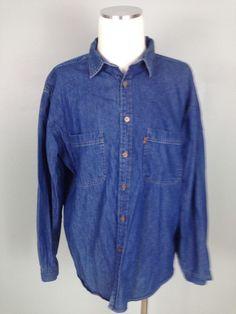 Levi s Vintage Orange Tab Men s Brushed Denim Shirt Jacket Blue   LevisforMen  ButtonFront 8de398d85