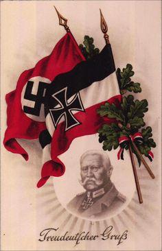 1933,Treudeutscher Gruá, Hindenburg m. Fahne, m. Gruáworte,