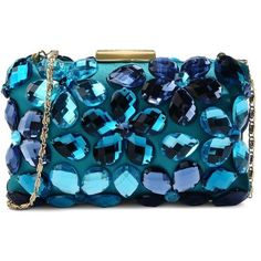 Love Moschino Clutch (€215) ❤ liked on Polyvore featuring bags, handbags, clutches, purses, borse, turquoise, hand bags, rhinestone clutches, rhinestone studded purse and man bag