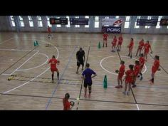 Condition and coordination exercises combined with shots by EHF Lecturer Peter Kovacs - YouTube