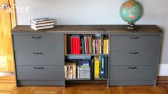 #DIY dressers and bookshelf from IKEA. Brilliant.