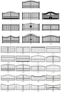 Custom fabricated Iron Gates & wrought iron garden gates in Dallas, Plano, Highland Park. Gate Wall Design, House Main Gates Design, Steel Gate Design, Front Gate Design, Entrance Design, Entrance Gates, Fence Design, Wrought Iron Gate Designs, Wrought Iron Driveway Gates