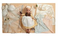 """View Catalog Item - Theriault's Antique Doll Auctions - 14"""" Poor Cinderella gift set, c 1950"""