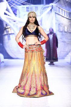 ombre Indian  lengha dress - Kangana Ranauat for JJ Valaya