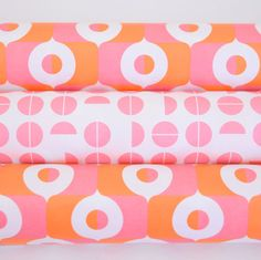 Retro Wrapping Paper from the Netherlands by Eva & Anna, Pink, Orange Surface Pattern Design, Nice Things, Netherlands, Wrapping, Anna, Wraps, Pure Products, Orange, Retro