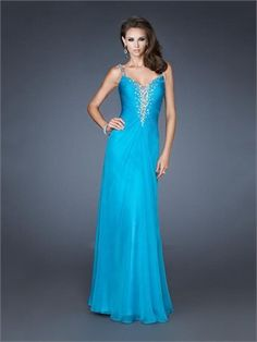 Hot  2013 Chiffon Ruched Beaded With Straps Floor Length Prom Dress PD11320 www.dresseshouse.co.uk $120.0000