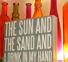 Sun and Sand Box Sign