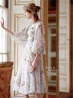 Julia Frauche in Dolce & Gabbana photographed by Tom Allen for Harper's Bazaar UK, February 2014.