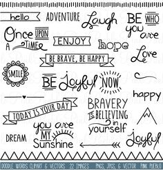Fonts Handwriting Discover Doodle Words Clipart Clip Art Typography Word Subway Art Clip Art Clipart Vectors - Commercial and Personal Use Art Clipart, The Words, Clip Art, Subway Art, Bullet Journal Inspiration, Journal Ideas, Doodle Art, Doodle Fonts, Doodle Quotes