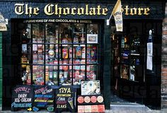 The Chocolate Store, North Yorkshire, England Chocolate Stores, Chocolate Sweets, Yorkshire England, North Yorkshire, Candy Shop, Facades, Vignettes, Museum, Entertaining