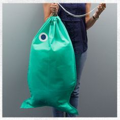 How to Make a Fish-Shaped Laundry Bag - tutorial includes step-by-step pictures.